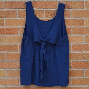 New Madewell Silk Top With Tie Back